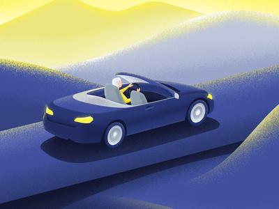 Cabriolet cabriolet sunset car