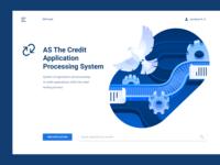 Enterprise UX/UI mainpage