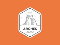 Arches National Park Badge