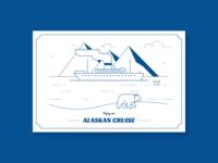 Alaskan Cruise Postcard