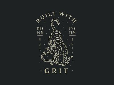Tiger and Snake T-Shirt t shirt swag hoodie black gold line vintage grit design system stars stipple snake tiger procreate illustration