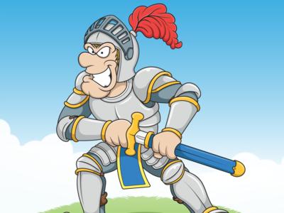 Cartoon Knight childrensbooks childrens illustration sword armour knight illustration medievalcartoon medieval cartoon knight cartoon