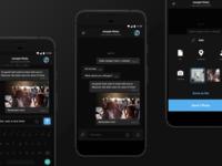 Telegram android chat UI