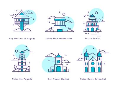 Icon Set - Vietnam Attractions