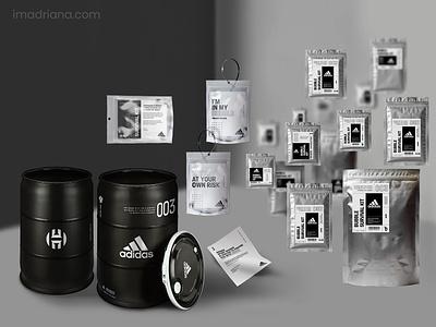 Adidas   Bubble Surival Kit mockups nba adidas packaging label design photoshop branding