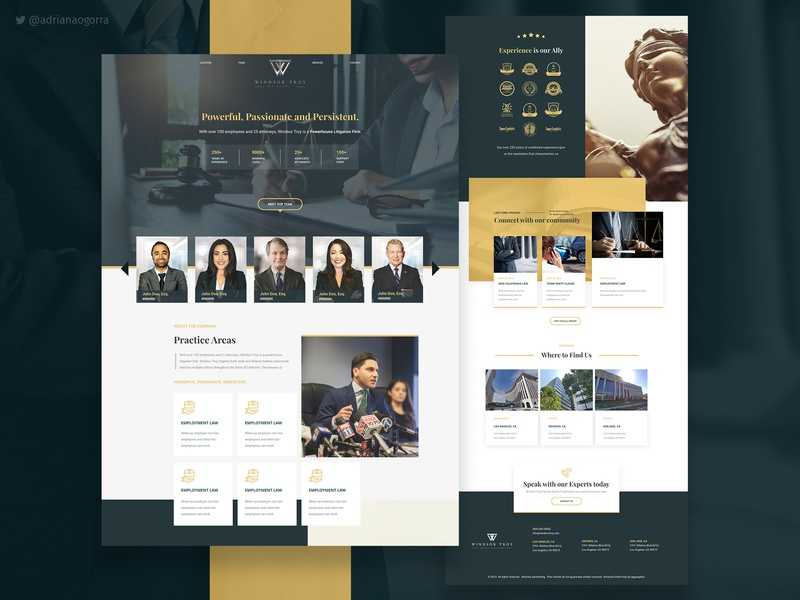 Website Prototype for a Law Firm ui  ux web desgin web branding one page single page layers web designer ux ui xd adobe xd