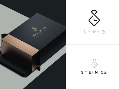 Stein Co   Logo Design integrations integrated box diamonds watches abstract illustration graphic design design typography branding vector logo