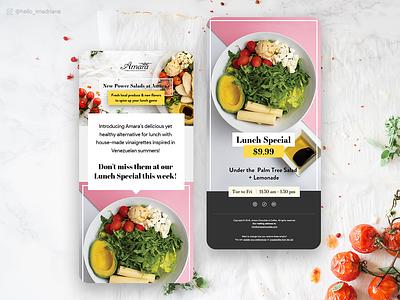 Email Design for Amara Chocolate Restaurant & Coffee Shop food salads app restaurant designer design ui  ux email template email design emailing