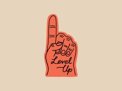 Level Up Foam Finger