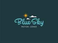 Blue Sky blue sky vintage mid century midcentury branding script vector logo handlettering lettering calligraphy