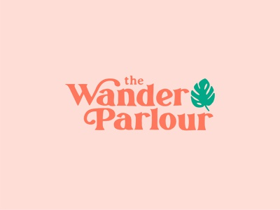 The Wander Parlour blog monstera plant vector logo beauty pink retro typogaphy