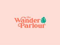 The Wander Parlour blog monstera plant vector logo beauty pink retro typogaphy