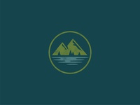 Mountains park hiking camping rugged stamp outdoors trees icon circle badge nature mountains