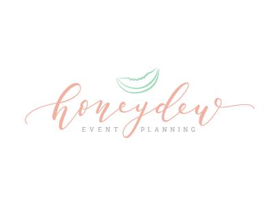 Honeydew Event Planning feminine lettering handlettering honeydew planning event