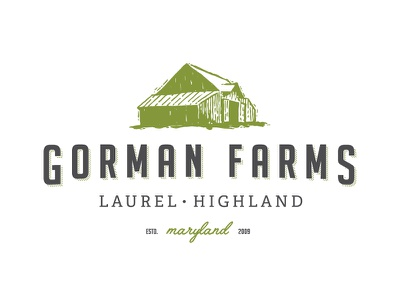 Gorman Farms illustration produce logo organic sketch barn farm