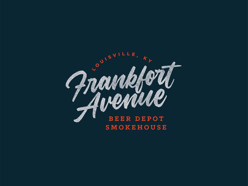 Frankfort Avenue Wordmark Logo vector design kentucky louisville beer barbecue restaurant wordmark script calligraphy lettering logo