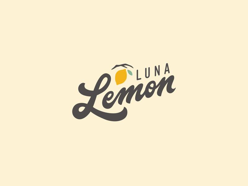 Luna Lemon boutique lemon script vector calligraphy handlettering lettering logo