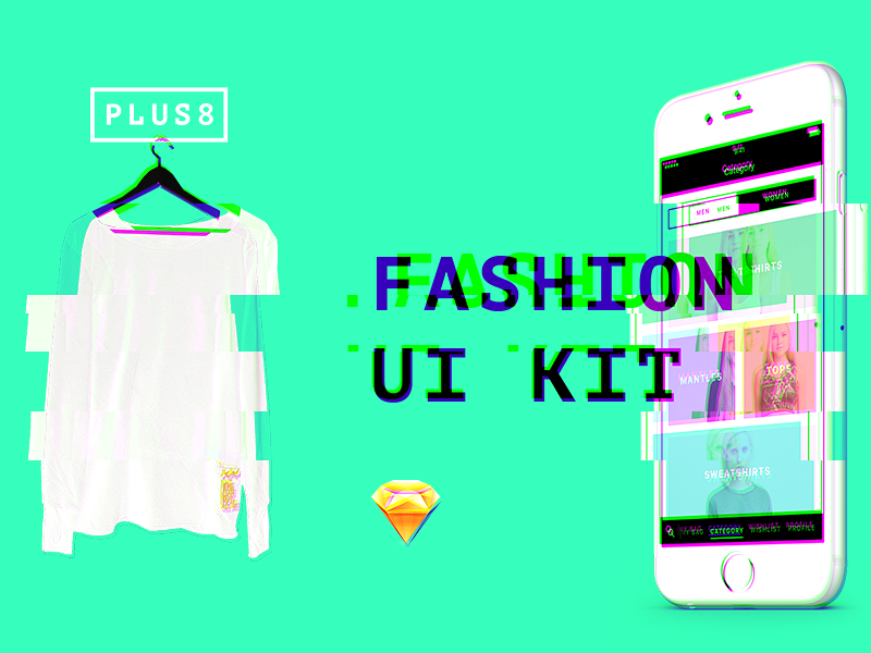 FASHION UI KIT for Sketch mockup ux free app mobile batnorton ios sketch ui fashion download kit