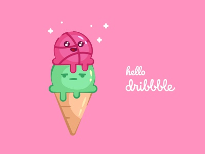 Hello Dribble dessert ice cream cone ice cream