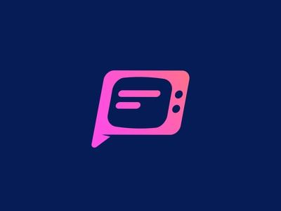 Telechat logo concept