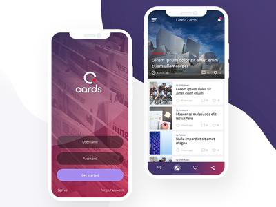 Cards - news app