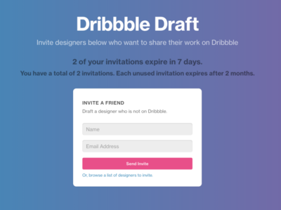 Dribbble Draft