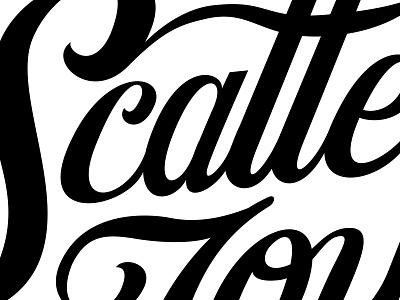 Scatter Joy Lettering ligature scatter custom typography illustration custom type lettering