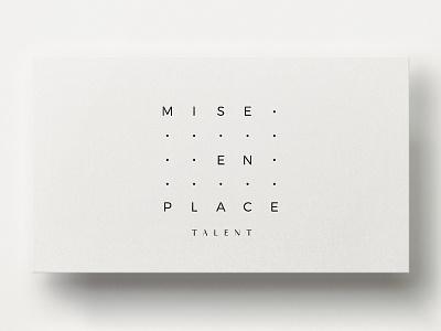 Mise En Place Talent Logo hospitality talent culinary mise en place identity minimal recruitment logo branding