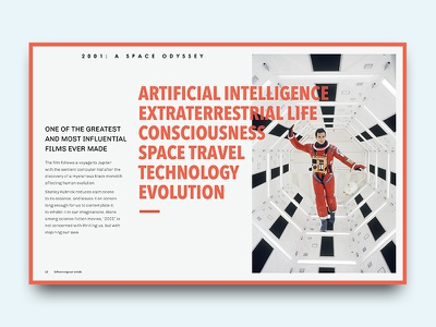 Space Odyssey movie odyssey space design graphic editorial publish layout typography type