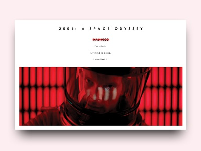 Hal-9000 movie design graphic typography type editorial publishing layout odyssey space