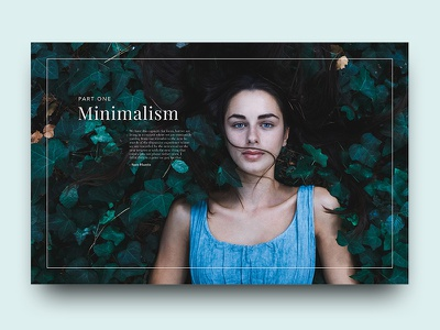 Minimalism editorial clean minimal nature layout typography design graphic