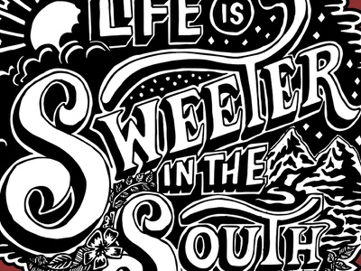 South Mural south illustration lettering design mural typography type