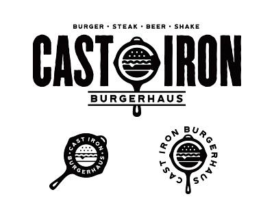 Cast Iron Burgerhaus bangkok skillet identity branding logo food steak burger iron cast