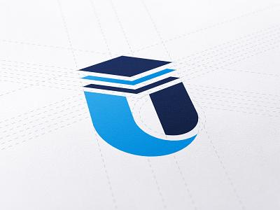 UDECON Logo mark visual geometry symbol letter u mark branding identity design logodesign logo udecon