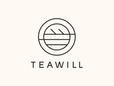 TEAWILL identity logo branding brand light teawill tea