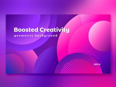 Abstract gradient background with circles