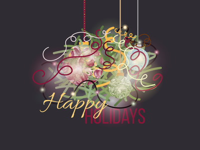Happy Holidays typography art vector illustration