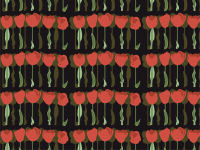 All the tulips in a row adobe illustrator pattern flat illustration illustrator art vector illustration
