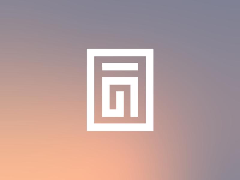 Spring logo feeling a bit rose and lavender. logo design logo identity branding graphic design gradient