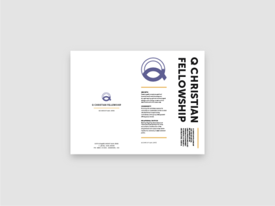 2019 Q Christian Fellowship Brochure