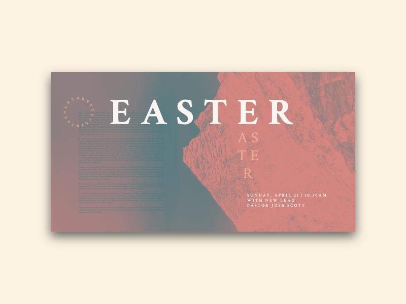 GracePointe Church / / Easter Sunday instagram social media blend mode inversion graphic  design church graphic church branding church church design church event easter sunday easter
