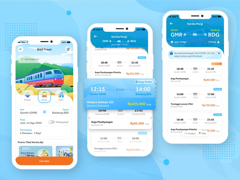 Exploration for Blibli Travel exploration travel illustration mobile app colorful blibli app ui visual design ui design uiux