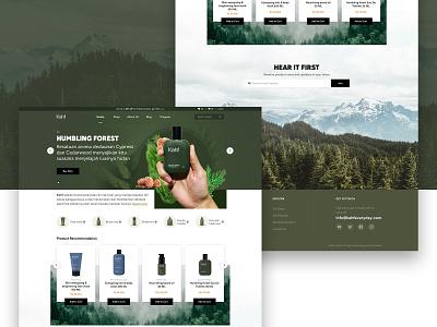 Kahf Landing Page ux landscape green product design minimalist website kahf landing page design branding visual ui design uiux