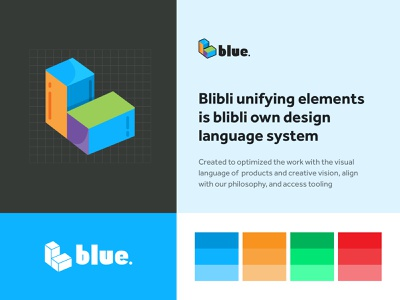 Blue design system design system colorful logo branding blibli ui visual animation ui design design uiux