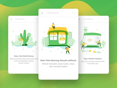 Illustration Concept For Marketplace concept sketch marketplace abstract shape texture visual design colorful uiux ui illustration character illustration