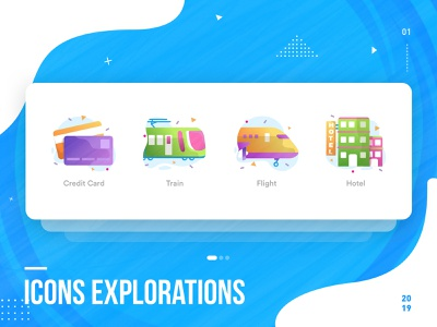 Icons Explorations design visual colorful icons icons design illustration ui design uiux