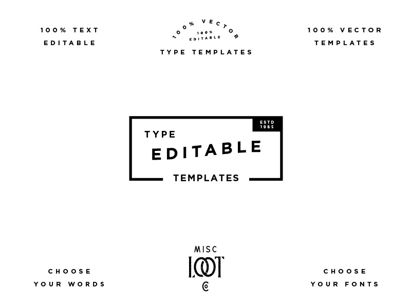 type templates pt 13 by misc loot co dribbble dribbble