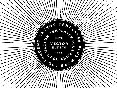 Vector Bursts sunburst ray burst design studio graphic design design custom type adobe illustrator template vector creative market