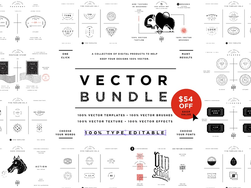 Vector Bundle by Misc  Loot Co  on Dribbble