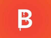 Alphabet B with milk drop Illustration